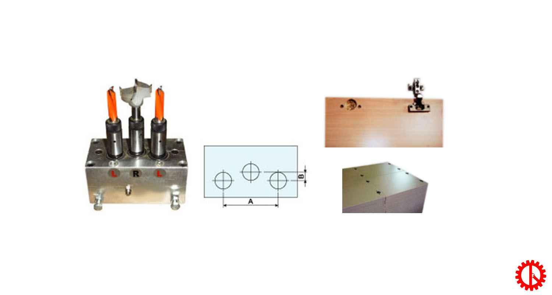 Sản phẩm máy khoan bản lề 1 đầu - Máy gỗ Quốc Duy