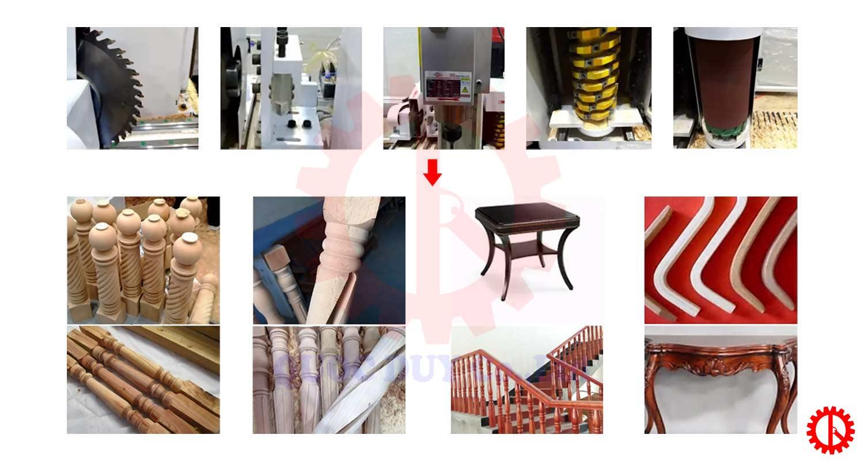 Chi tiết - sản phẩm máy tiện gỗ tự động đa chức năng SM-TJ-1220   Quốc Duy