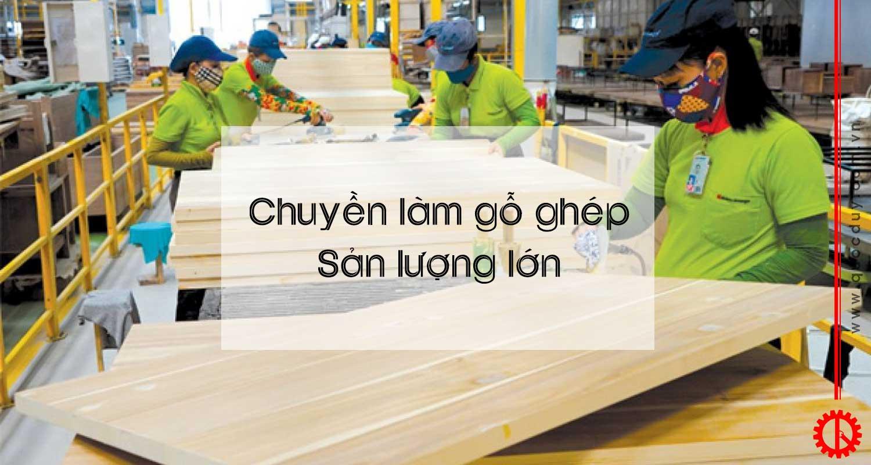 chuyền làm gỗ ghép sản lượng lớn   quốc duy