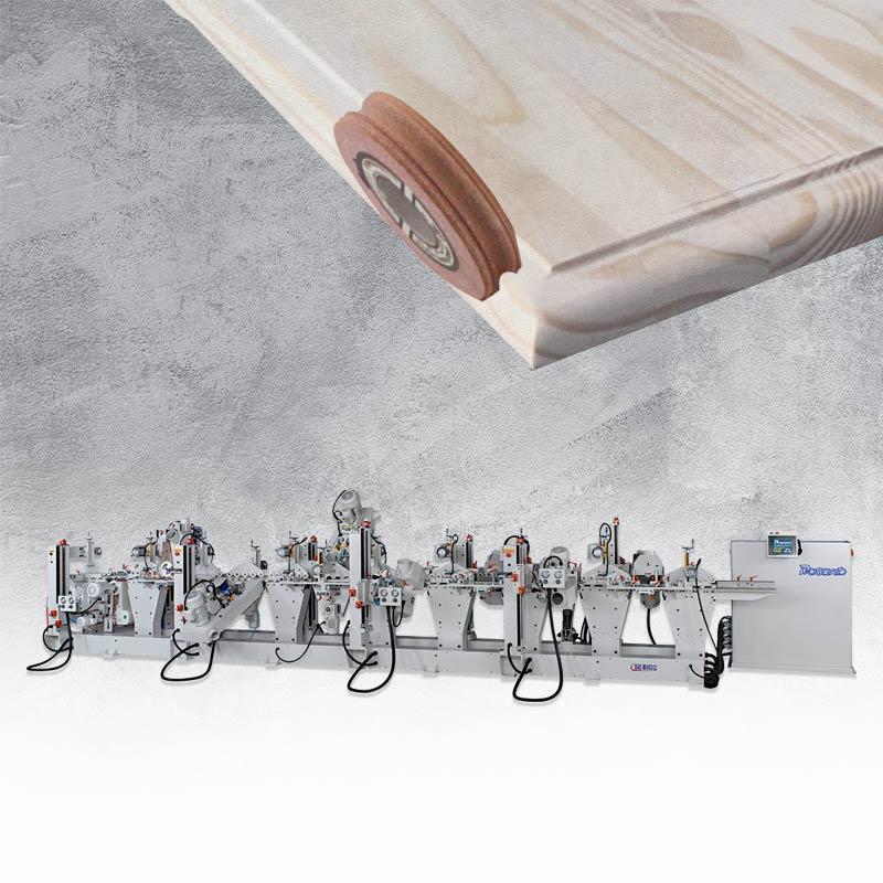 Deformation sanding machine