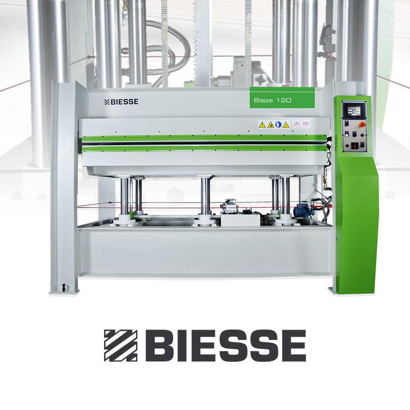 Biesse hot press equipment