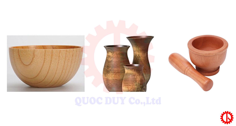 Sản phẩm máy tiện chày cối gỗ cnc tự động SM 1500   Quốc Duy