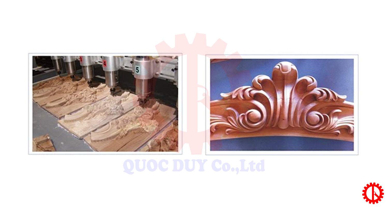 Sản phẩm máy gia công điêu khắc cnc 2d 8 đầu   Quốc Duy