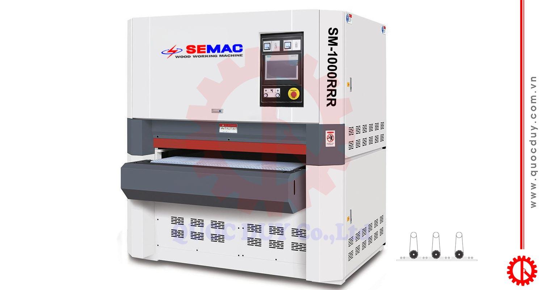 SM-1000RRR máy chà nhám thùng 3 trục có màn hình | quốc duy