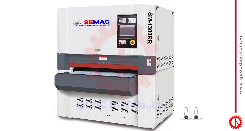SM-1300RR máy chà nhám thùng 2 trục khổ 1300 | quốc duy