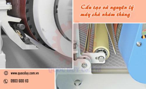 cấu tạo và nguyên lý máy chà nhám thùng | QUỐC DUY