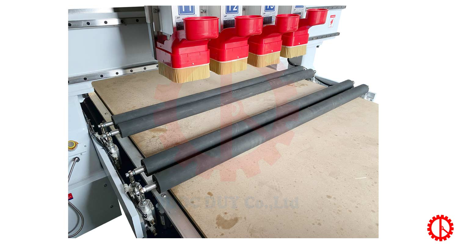 roller coaster for CNC router 4 heads 2 table