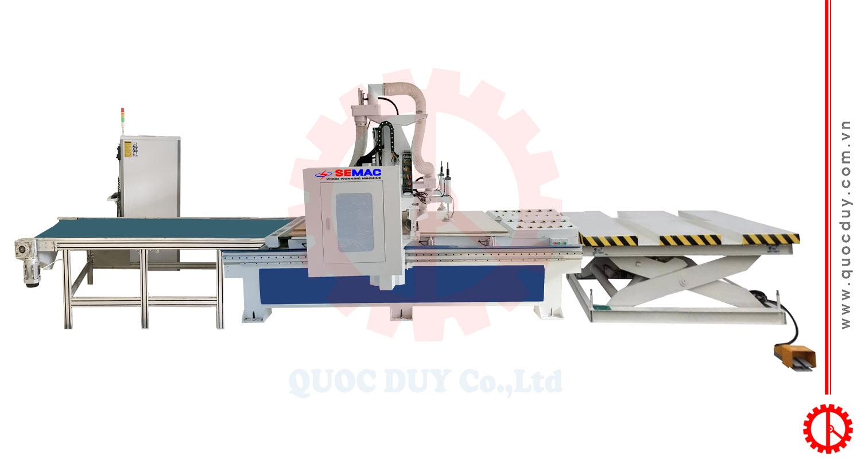 CNC ROUTER MACHINE WITH BORING UNIT AUTOLOAD SM 1325 R1B-AL| Quoc Duy